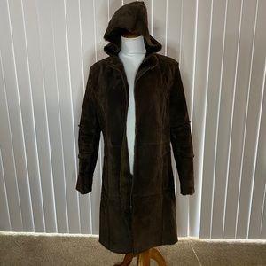 Topshop suede overcoat Size 12